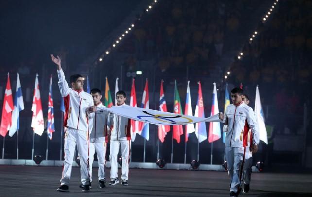 XV Avropa Gənclər Yay Olimpiya Festivalının bağlanış mərasimi keçirildi
